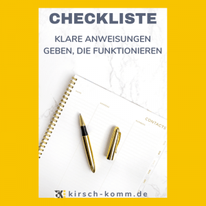 Checkliste Anweisung geben