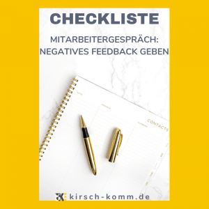 Checkliste negatives Feedback