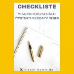 Checkliste positives Feedback