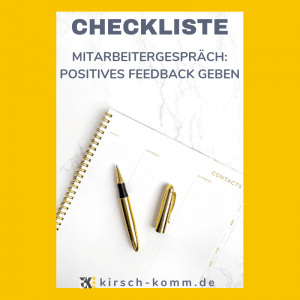 Checkliste positives Feedback