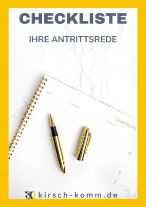 Cover Vorlage Antrittsrede